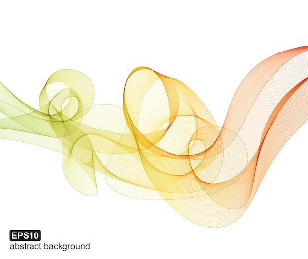 抽象的なカラフルな波の背景。