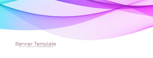 Abstract colorful wave design banner