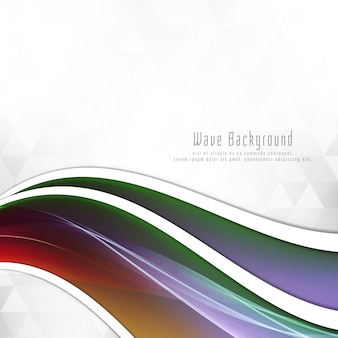 Abstract colorful wave elegant background