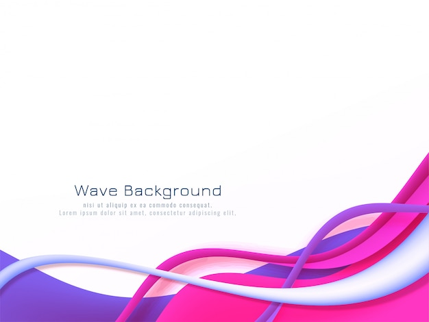 Abstract colorful wave flow background