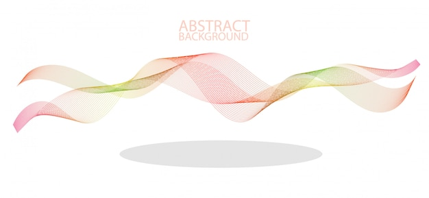 Abstract colorful wave lines flowing isolated on black background