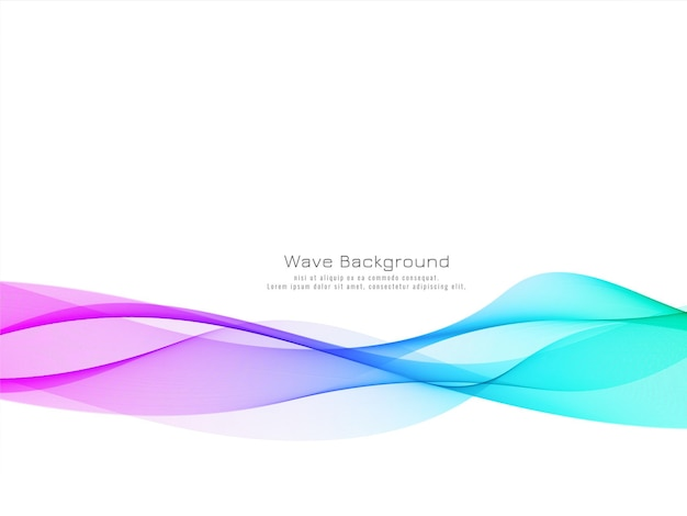 Abstract colorful wave modern background