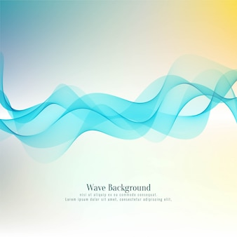 Abstract colorful wave stylish background