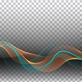 Abstract colorful wave transparent stylish background