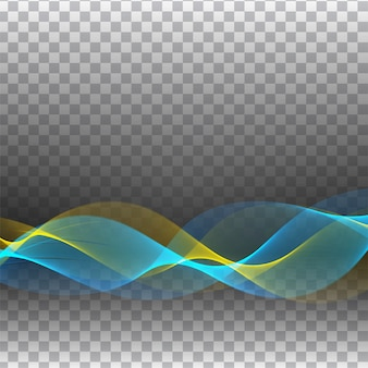 Abstract colorful wave transparent stylish
