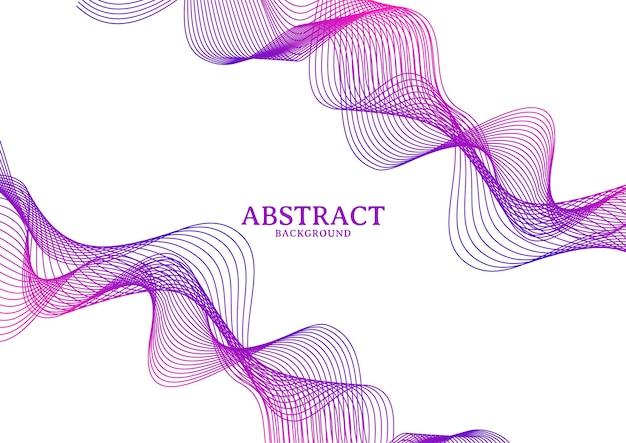 Абстрактные красочные волнистые линии течет фон, фон линии волны, изолированные на белом фоне
