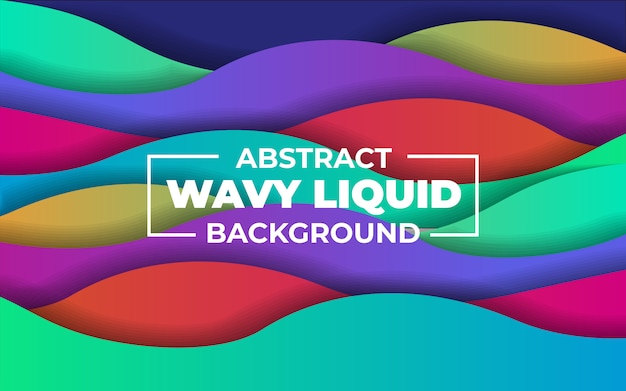 Abstract colorful wavy liquid background