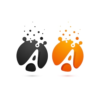 Abstract colorfull glossy logo