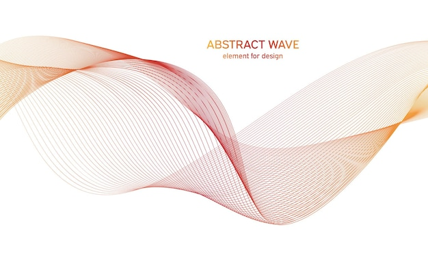 デザインのための抽象的なカラフルな波要素