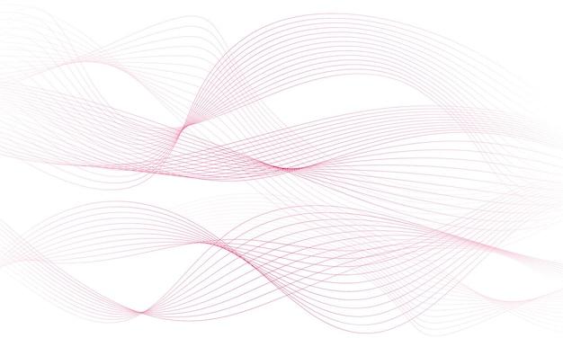 抽象的なカラフルな波の要素