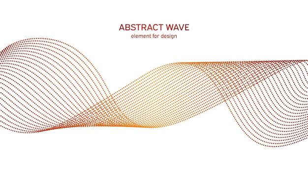 抽象的なカラフルな波イコライザー