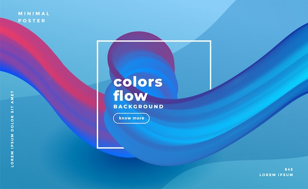 Abstract colors flow wave composition background