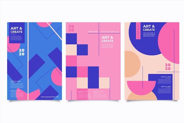 Концепция абстрактных красочных обложек