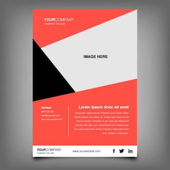 Abstract coloured brochure