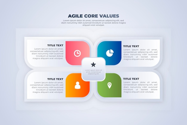 Abstract coloured floweragile infographic