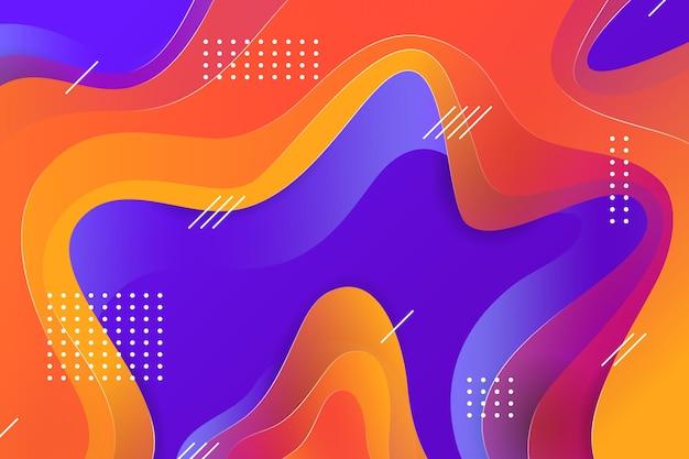 抽象的なカラフルな背景とメンフィス効果