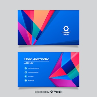 Abstract colourful business card template