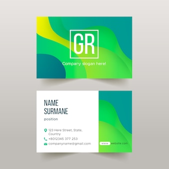 Abstract colourful business card