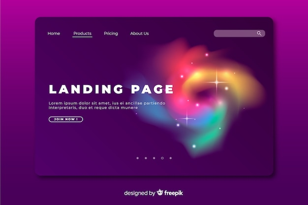 Abstract colourful delusion landing page