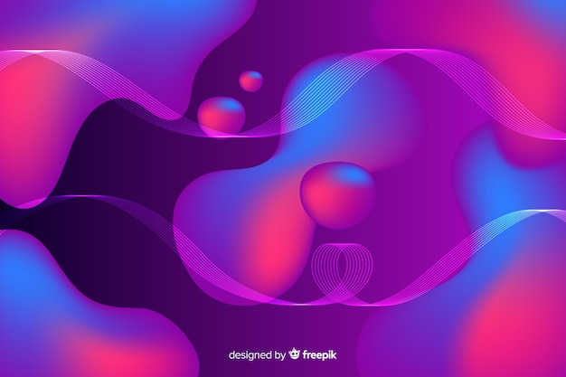 Abstract colourful flow shapes background