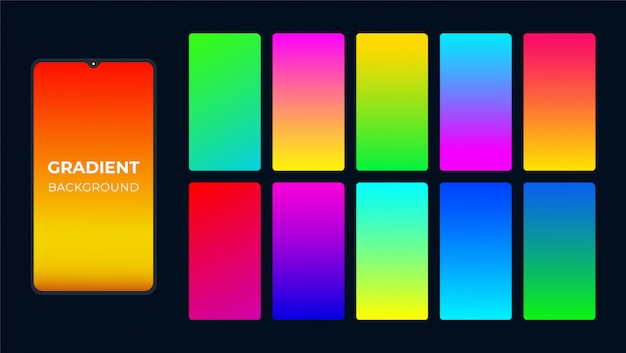 Abstract colourful gradient background