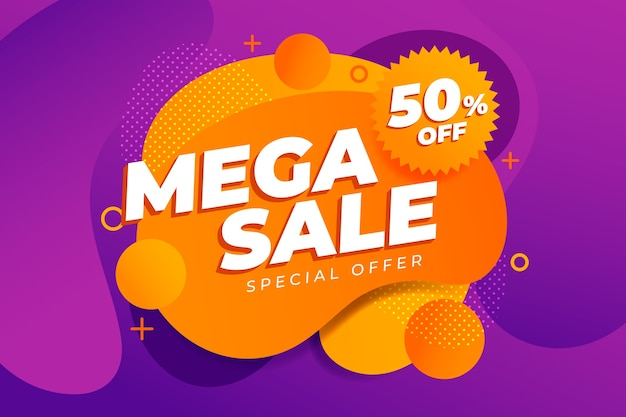 Abstract colourful mega sales background