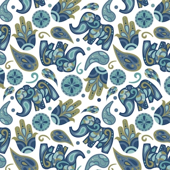 Abstract colourful paisley pattern