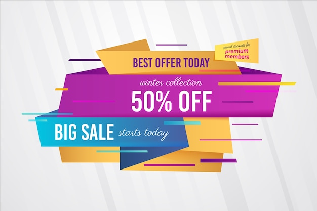 Abstract colourful sales banner