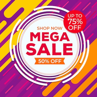 Abstract colourful sales label promotion