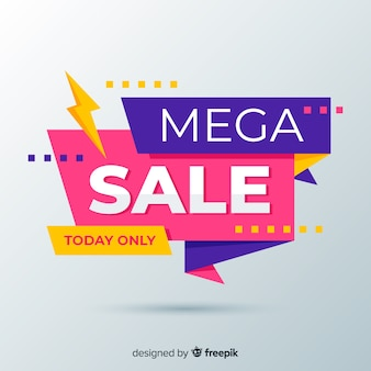Abstract colourful sales with flash banner