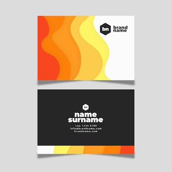 Abstract colourful visiting card template