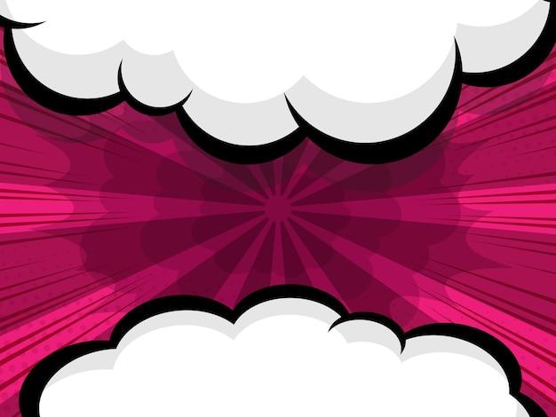 Abstract comic book, pop art cartoon speech bubble vector illustration background
