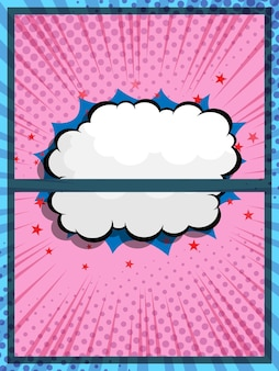 Abstract comic book pop art speech bubble cartoon background vector illustration