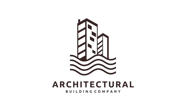 Abstract commercial real estate building logo
