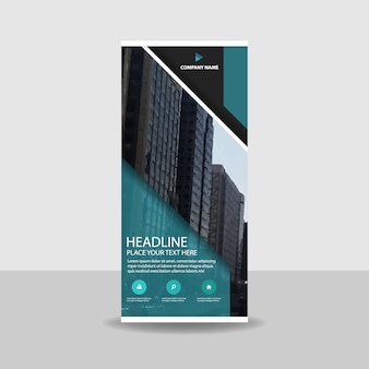Abstract commercial roll up banner