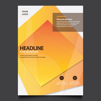 Abstract company brochure design template