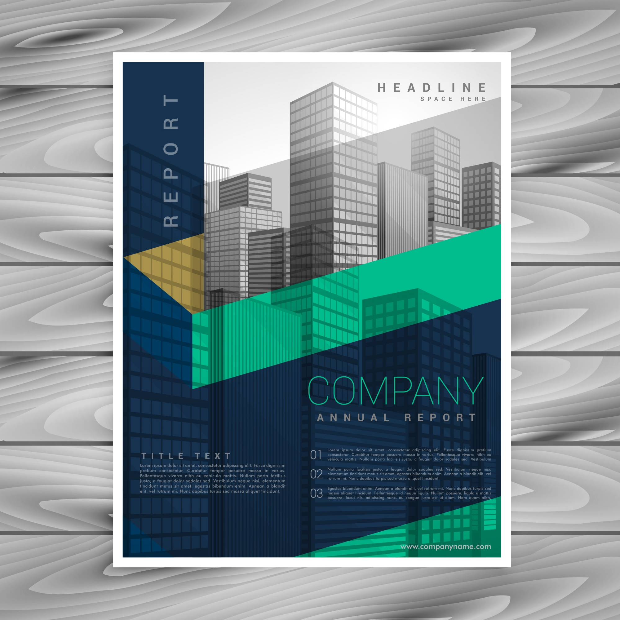 Abstract company brochure poster design template with space for your photo