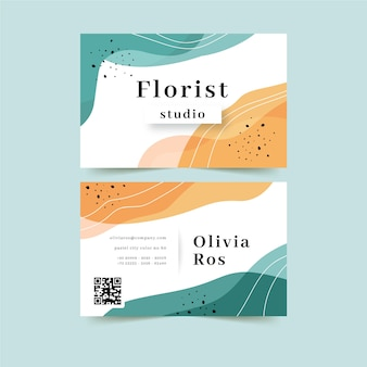 Abstract company card template with colourful stains