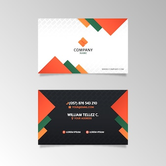 Abstract company card template