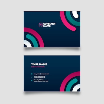 Abstract company card with colorful shapes
