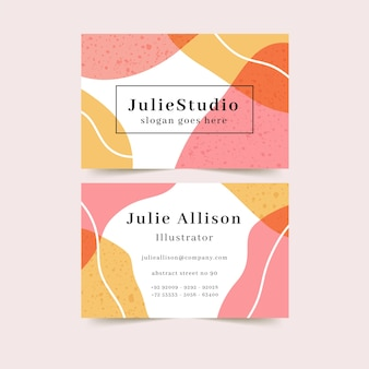 Abstract company card with colorful stains