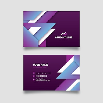 Abstract company card with colourful shapes