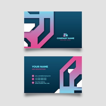 Abstract company card with gradient shapes