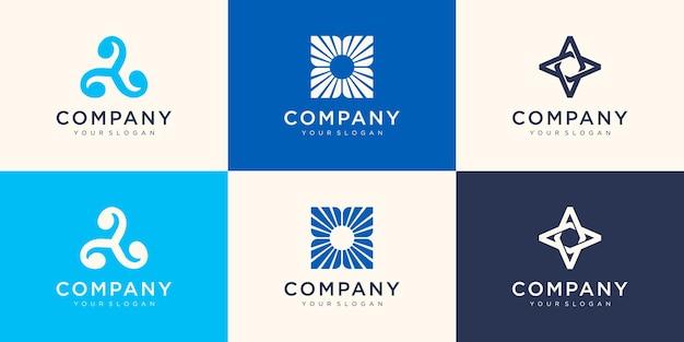 抽象的な会社のロゴのデザインテンプレート