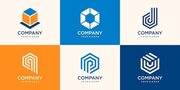 抽象的な会社のロゴデザイン
