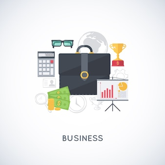 Abstract composition of business stuff