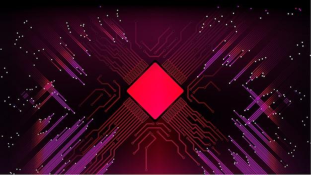추상적인 컴퓨터 마이크로프로세서 회로 기판 벡터 배경입니다. eps 10.