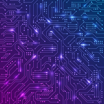 Abstract computer technology circuit board illustration