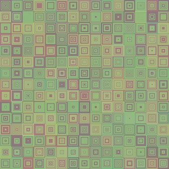 Abstract concentric square mosaic background