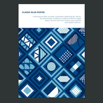 Abstract concept poster template